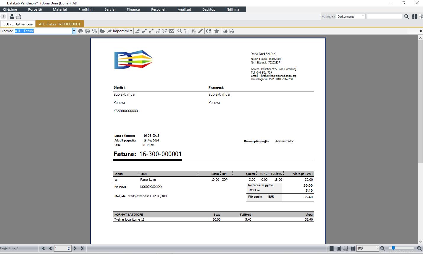 Inssued Invoice